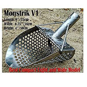 CooB Beach Sand Scoop Shovel Metal Detector, Sand Scoops Treasure Detecting, Metal Detector Hunting Stainless Steel Tool…