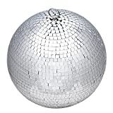 """Funky Large 12"""" Mirror Glass Disco Ball Great For DJs Bands Pubs Weddings Banquets Night Clubs Discos Or Just Hanging In Your Home Bedroom offers"""