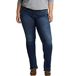 47d4512be504f Silver Jeans Co. Women s Plus Size Suki Curvy Fit Mid Rise Slim Bootcut  Jeans