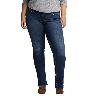 118c5686157 Silver Jeans Co. Women s Plus Size Suki Curvy Fit Mid Rise Slim Bootcut  Jeans