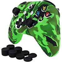 Xbox One S / X Funda Para Control de Xbox One S / X + 8 Grips (Verde Militar)