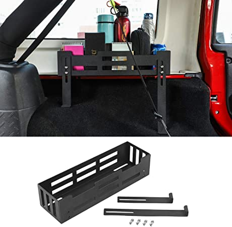 RT-TCZ Interior Storage Box Trunk Organizers Cargo Side Tray for Jeep Wrangler JL Sahara Rubicon Sport Sport/ S 4 Door 2018 Up Black