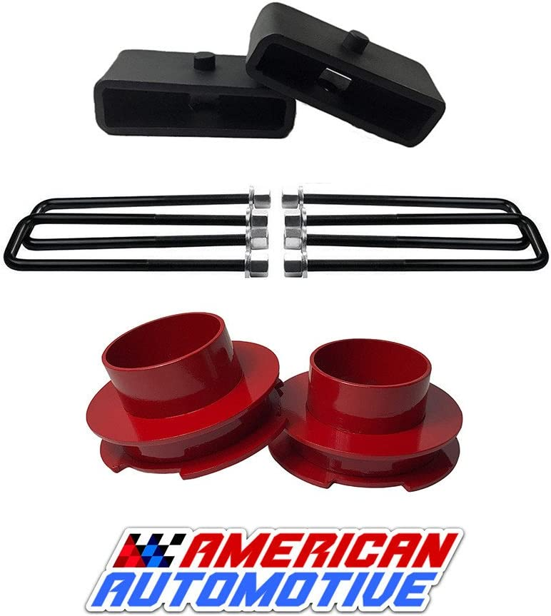 American Automotive 1999-2007 Silverado Sierra Lift Kit 3 2WD Blue Steel Coil Spring Spacers Road Fury Leveling Lift Kit Set of 2