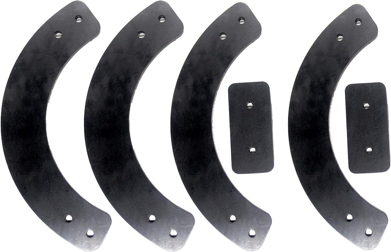 Rubber Auger Paddle Shave Plate Belt Set fit 753-0613 731-1033 954-0101A