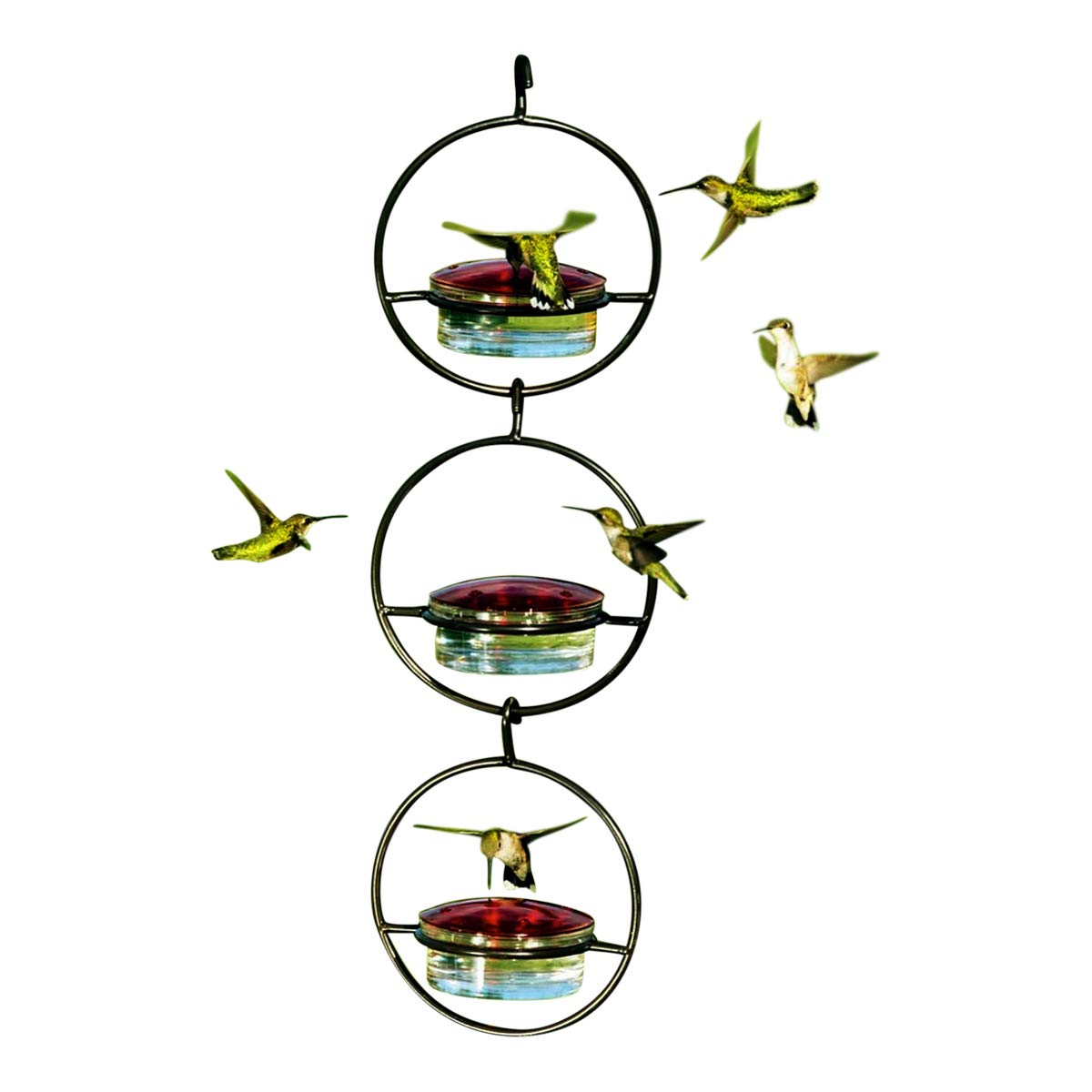 3 Awesome G425VM Sphere Glass Hummingbird Wild Bird Feeders for Nectar, Mealworms and Birdseed. Romantic Decor & More