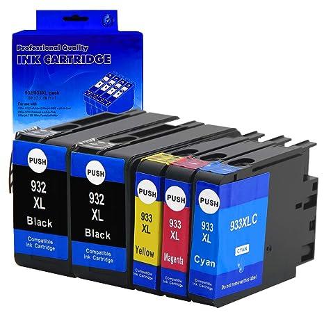 Ksera Repuesto para HP 932XL 933XL 932 XL 933 XL Cartuchos de ...