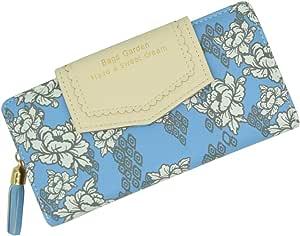محفظة نسائية نسائية جلدية محفظة طراز ريفي عرقي بسحّاب مزدوج الطيات حقيبة يد بزر حقيبة كلاتش ، هدية معلبة