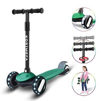 Amazon.com: KORIMEFA patinete para niños de 3 ruedas ...