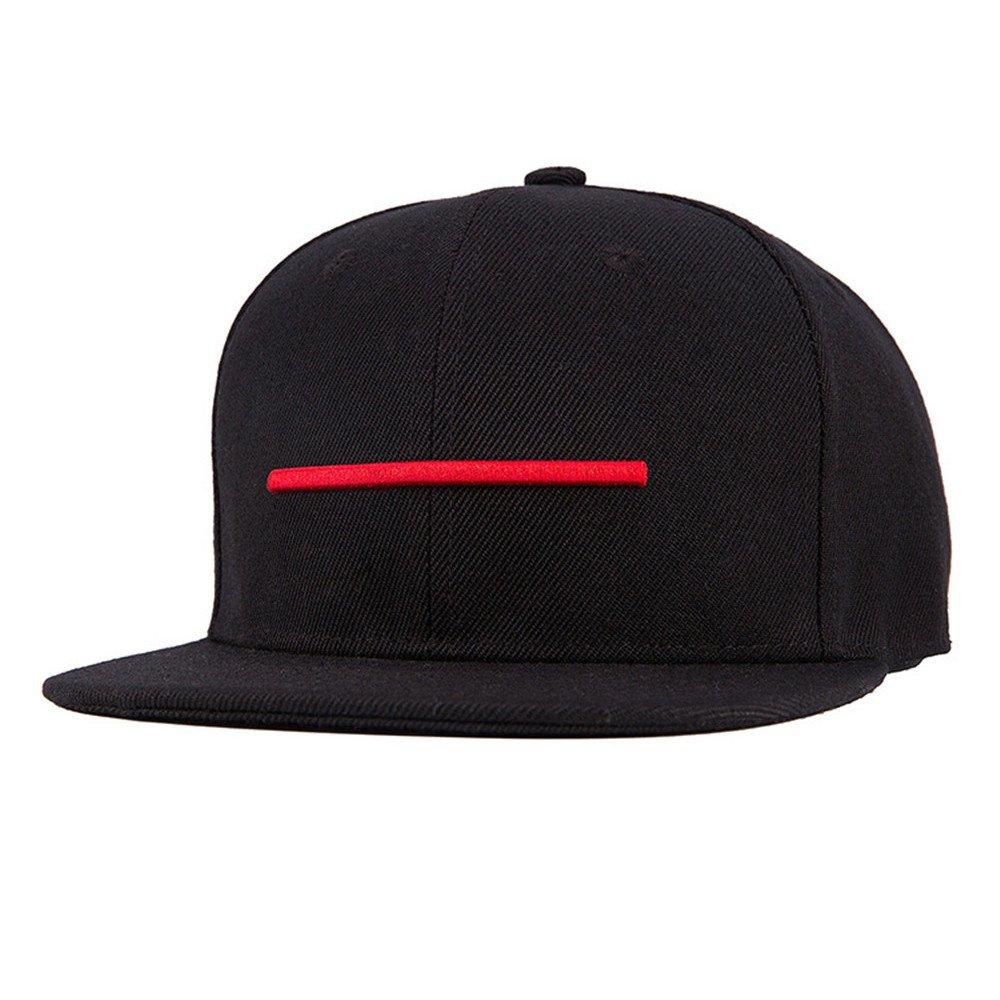 Berretto da baseball Regolabile Uomini Ragazzi 3D Ricamo Linea Orizzontale Cappello Di Hip Hop Berretto Snapback DH866