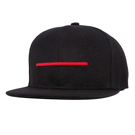 Uomini Ragazzi Moda 3D Ricamo Linea Orizzontale Berretto Da Baseball  Cappello Di Hip Hop  Amazon.it  Abbigliamento edce93b5aa73