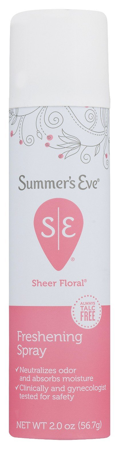 Summers Eve Freshening Spray 2 Ounce Sheer Floral (59ml) (2 Pack)