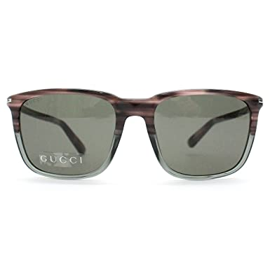 Gucci Lunettes de soleil style Wayfarer Gris 086290063  Amazon.fr ... 8f899d0bd631