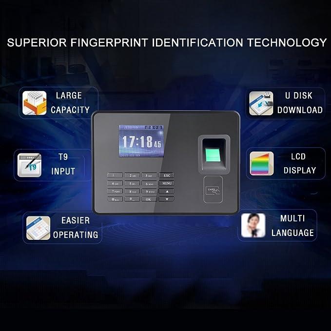 KKmoon Sistema de Huella Digital,Chip de Grado Industrial,Pantalla ...