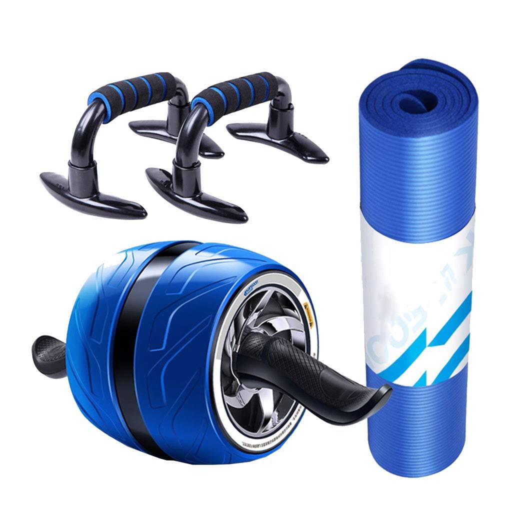 優れた安定性Abローラーホイールキット超ワイドエクササイズホイール完璧な腹部コアエクササイズホーム理想的なジムブルー容量600ポンド   B07P9CS6DG