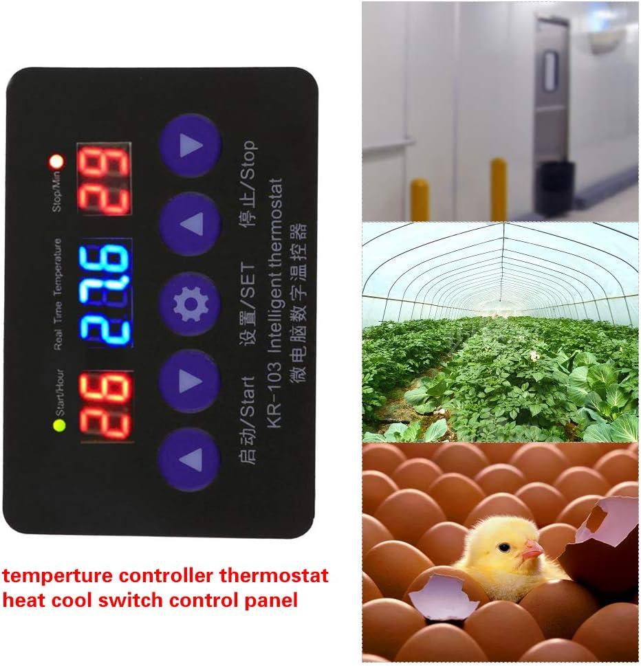 Festnight KR-103 Contr/ôleur De Temp/érature Avec Affichage LCD Thermom/ètre Thermostat Num/érique Thermostat Chaleur Interrupteur De Refroidissement Kit Kit Panneau 12V