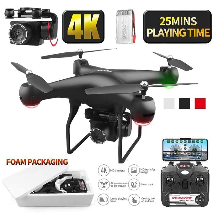 RONSHIN Drone 4k RC Quadcopter Dron con HD 1080P WiFi Cámara Video ...