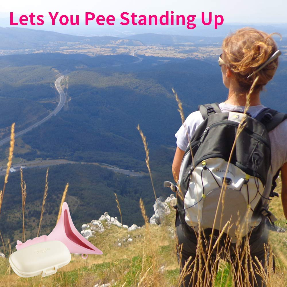 Lets You Pee Standing Up,Discreet Reusable Urinal Funnel for Women ASEOK Female Portable Urination Device Festivals,Includes Carry Box Camping Outdoor Activities Hiking Perfect for Travel