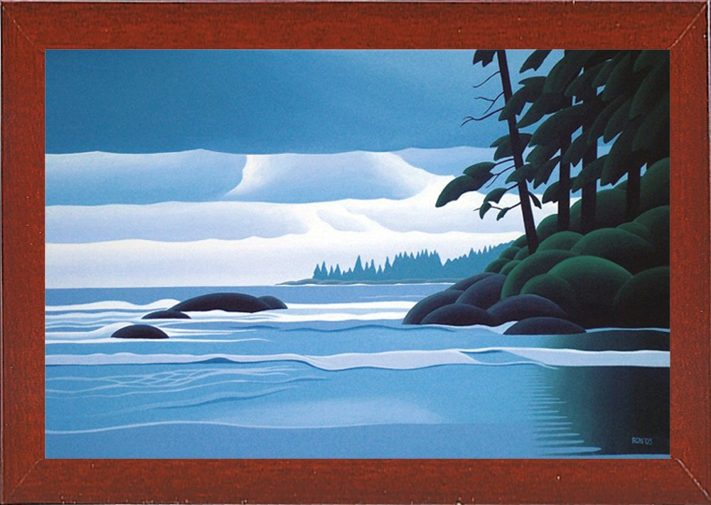 Frame USA Heavy Skies-RONPAR59046 8.75x13.25 by Ron Parker in a Affordable Red Mahogany Medium Print 8.75x13.25