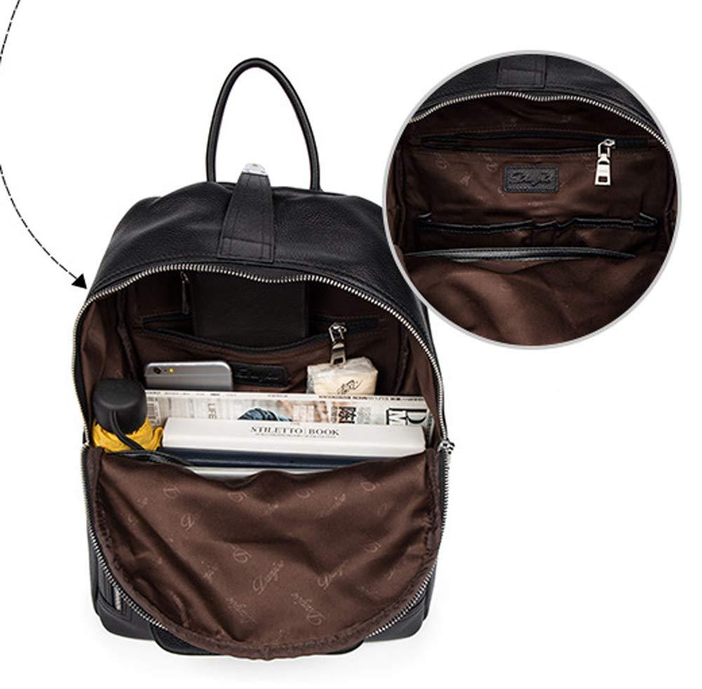 Rucksack Herren Schwarz Leder Casual Fashion Fashion Fashion Rucksack B07L8DL5W5 Daypacks Großhandel 9d1271