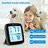 SMARTRO SC42 Professional Digital Hygrometer Indoor Thermometer Room Humidity Gauge & Pro Accuracy Calibration