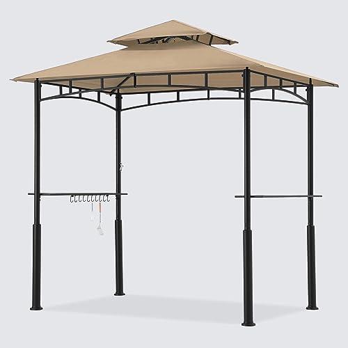 ABCCANOPY 8'x 5' Grill Gazebo Double Tiered Outdoor BBQ Gazebo Canopy