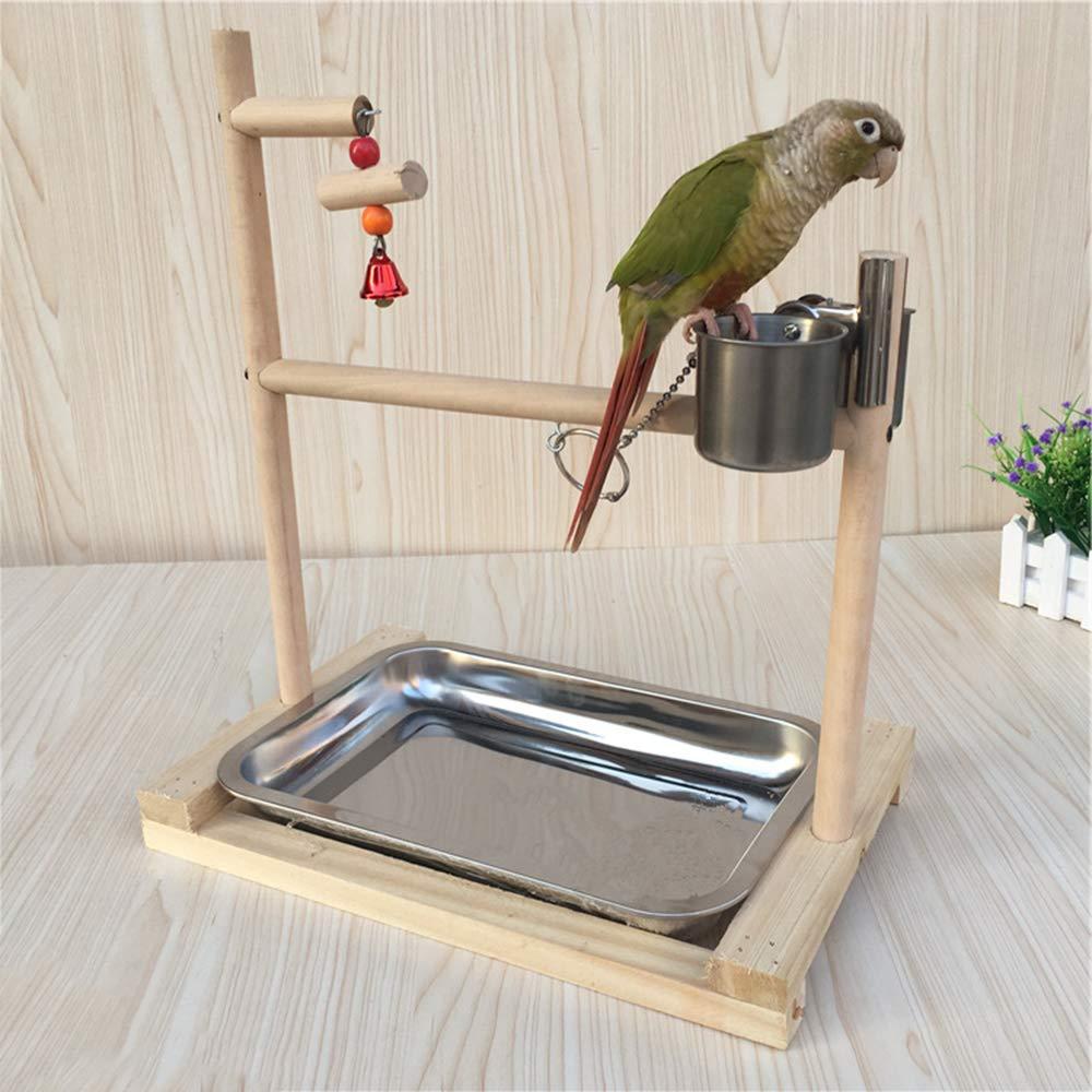 DAYOLY - Plataforma de madera para pájaros, loros, garras, jaula ...