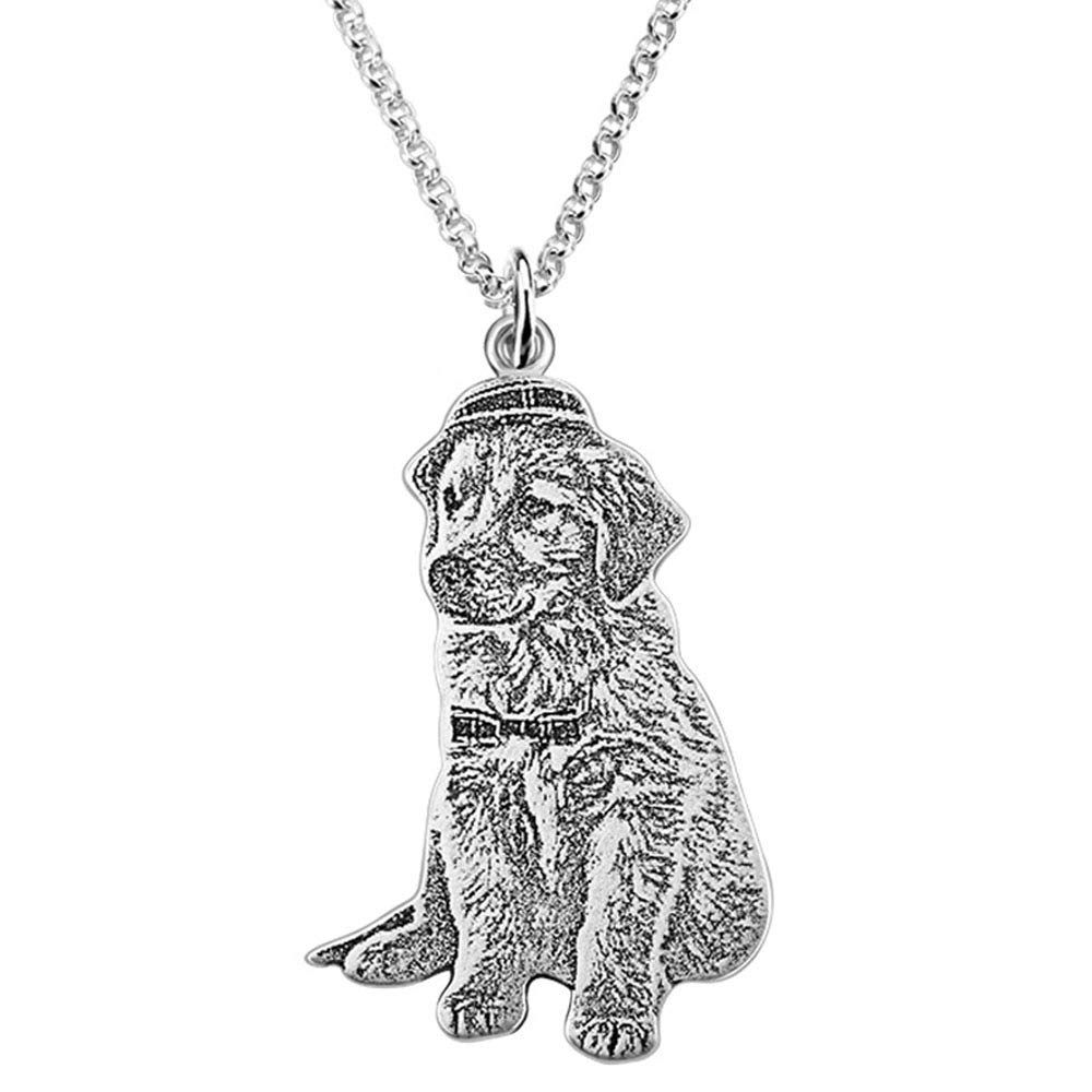 Surose Personalized Pet Picture Necklace Custom Cat Dog Necklace//Photo 18 Chain Jewelry Gift for Pet Lovers