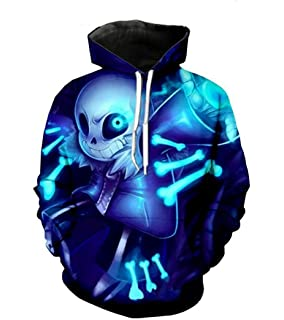 MaeFte Sweater Blue Cosplay Costumes Sans Skull Hoodie