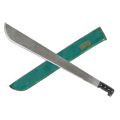 """Zenport MP24 Machete Carbon Steel Blade PVC Handle with Sheath, 24"""" : Garden & Outdoor"""