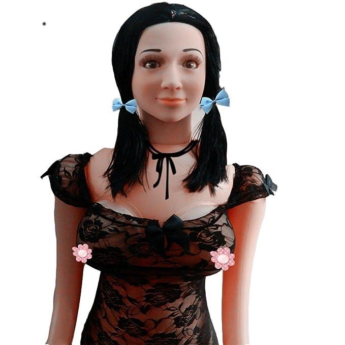 ZHIYUAN De una sola pieza de goma transparente muñeca hinchable ...