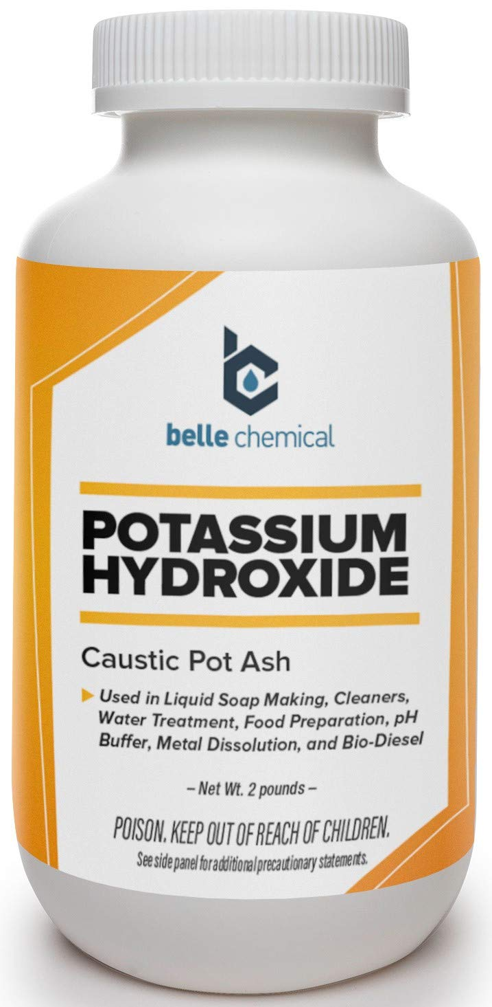 Potassium Hydroxide (Food Grade) FCC/USP 90% (2 Pound)