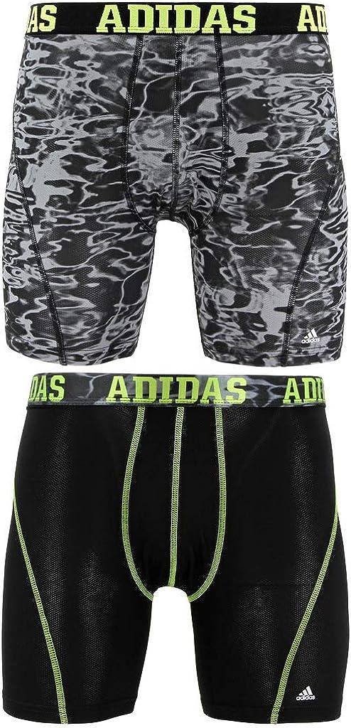 adidas Men's Sport Performance ClimaCool Boxer Brief Underwear (2 Pack)