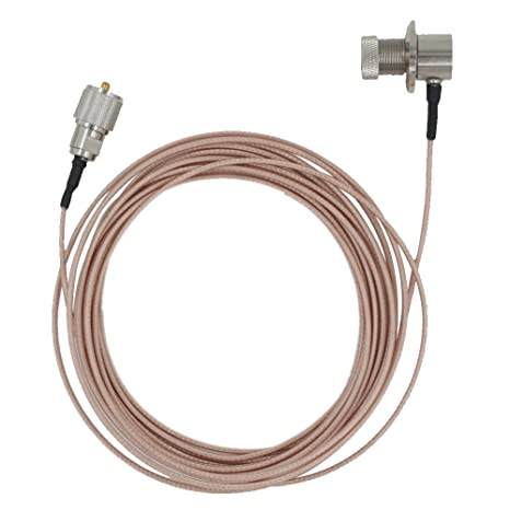 KENMAX 5M Handheld Radios Antenna Extension Cable with PL-259 and SO-239 Connectors