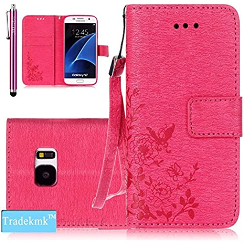 Galaxy S7 Case,S7 Case, Tradekmk(TM); PU Leather Card Holders And Stand Wallet Phone Case For Samsung Galaxy S7, (+Stylus+Screen Sales