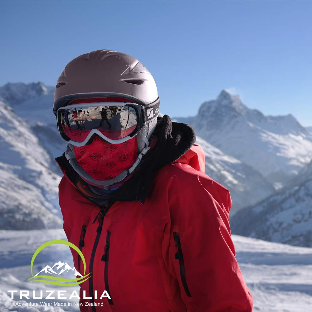 Balaclava Outdoor Wear Hat Cap Unisex New Zealand Made Merino Wool Luxurious Warmth and Soft with a Light Weight Stretchy Face Mask Stylish Unique Moisture Wicking with Thermal Properties Purple by Truzealia (Image #7)