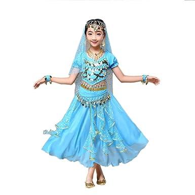 e01531df95526 Ouneed® Enfant Danse Orientale Costume Tenu 2pcs Huat + Robe  Amazon.fr  Vêtements  et accessoires