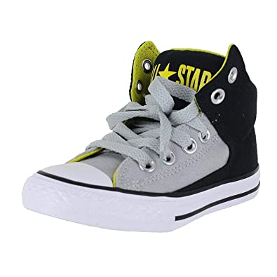 d52248655f3 Converse Kids K All Star HIGH Street Shoes Black ASH Grey Size 2