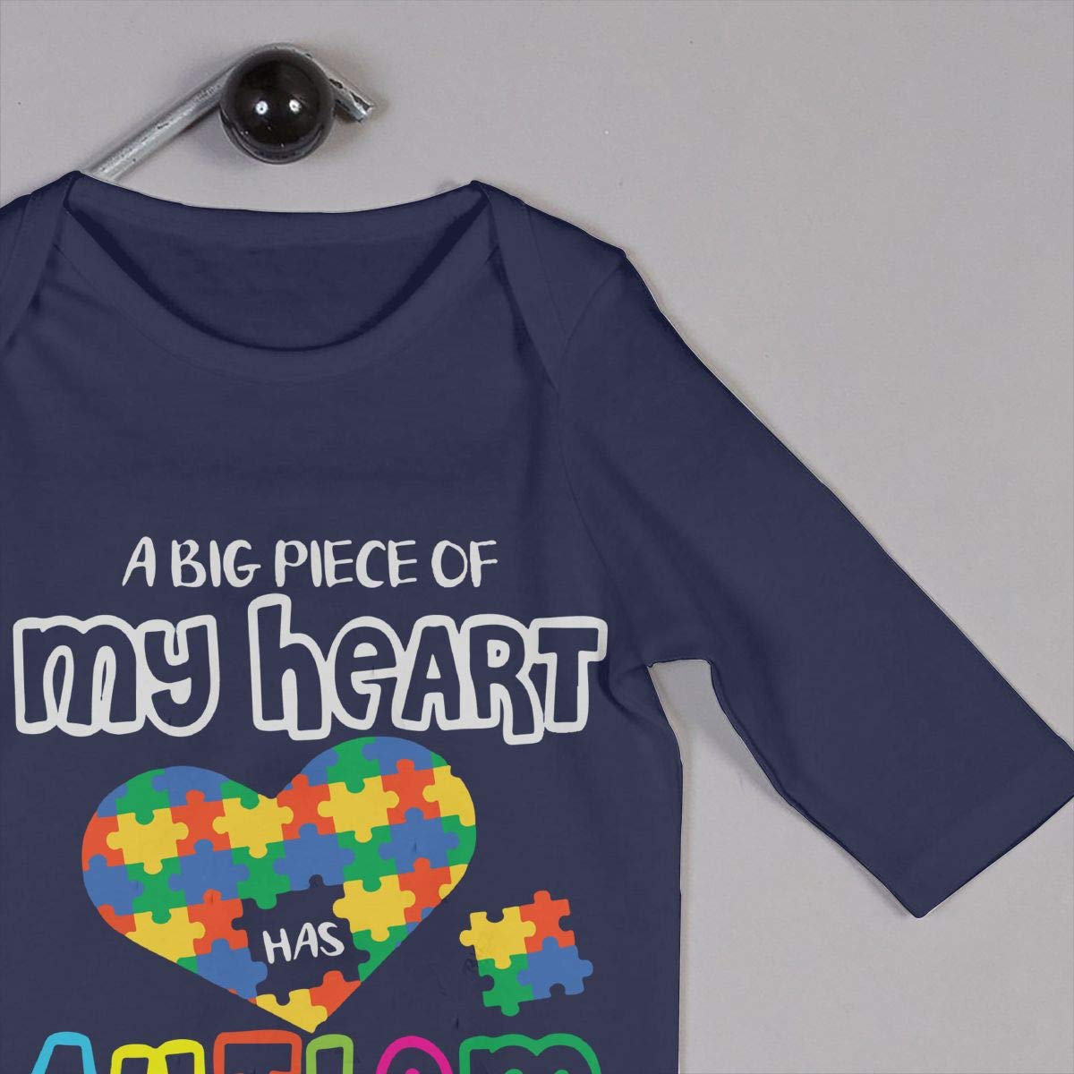 LBJQ8 A Big Piece of My Heart Has Autism Infant Baby Boy Girl Sleep and Play Bodysuit Romper Jumpsuit