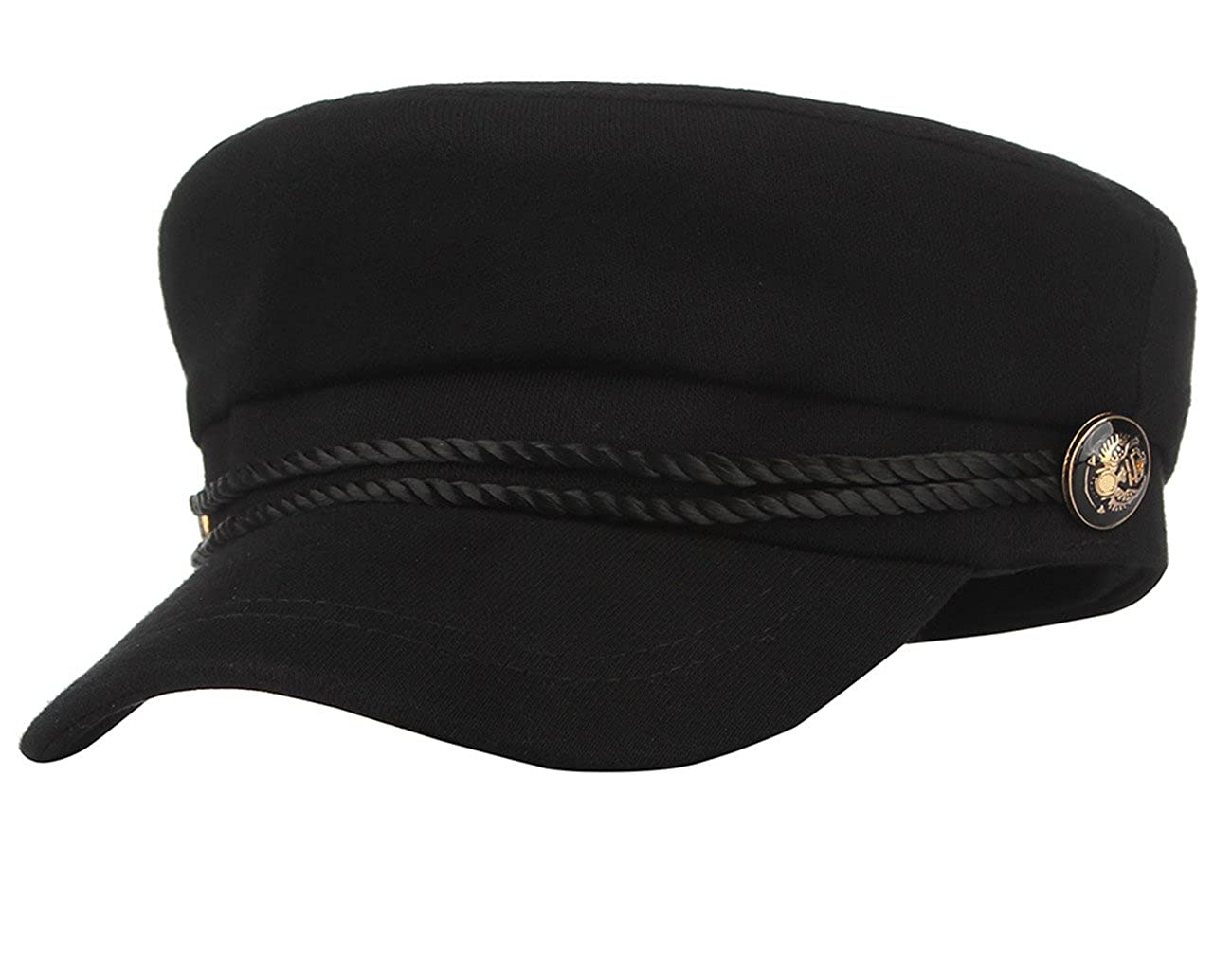 Licus Men Women Newsboy Cabbie Peaked Beret Cap Baker Boy Yacht Captain Sailor Hat