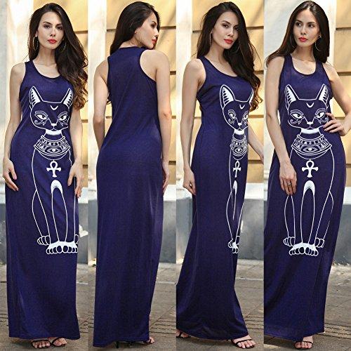 Sommerkleid Damen IHRKleid® Lang High Waist Sleeveless Beach Kleid ...