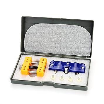 Conjunto de Profesional herramienta para abrir tapas de relojes Abridor Metal Abrelatas Llave + Soporte Fijo Relojes para reemplazo de batería o reparación ...