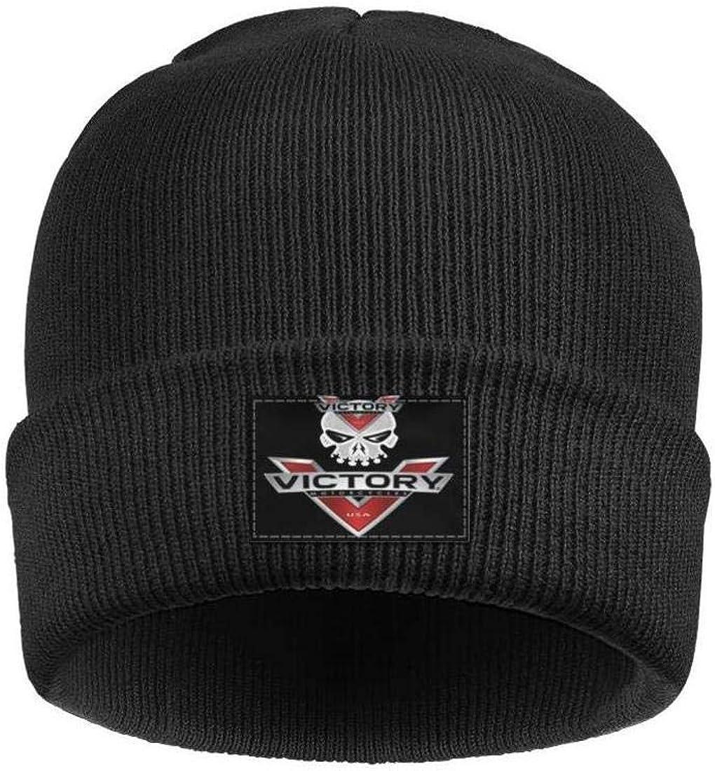 Mens Women Beanie Hat Victory-Motorcycle Style Warm Woolen Sport Skull Cap