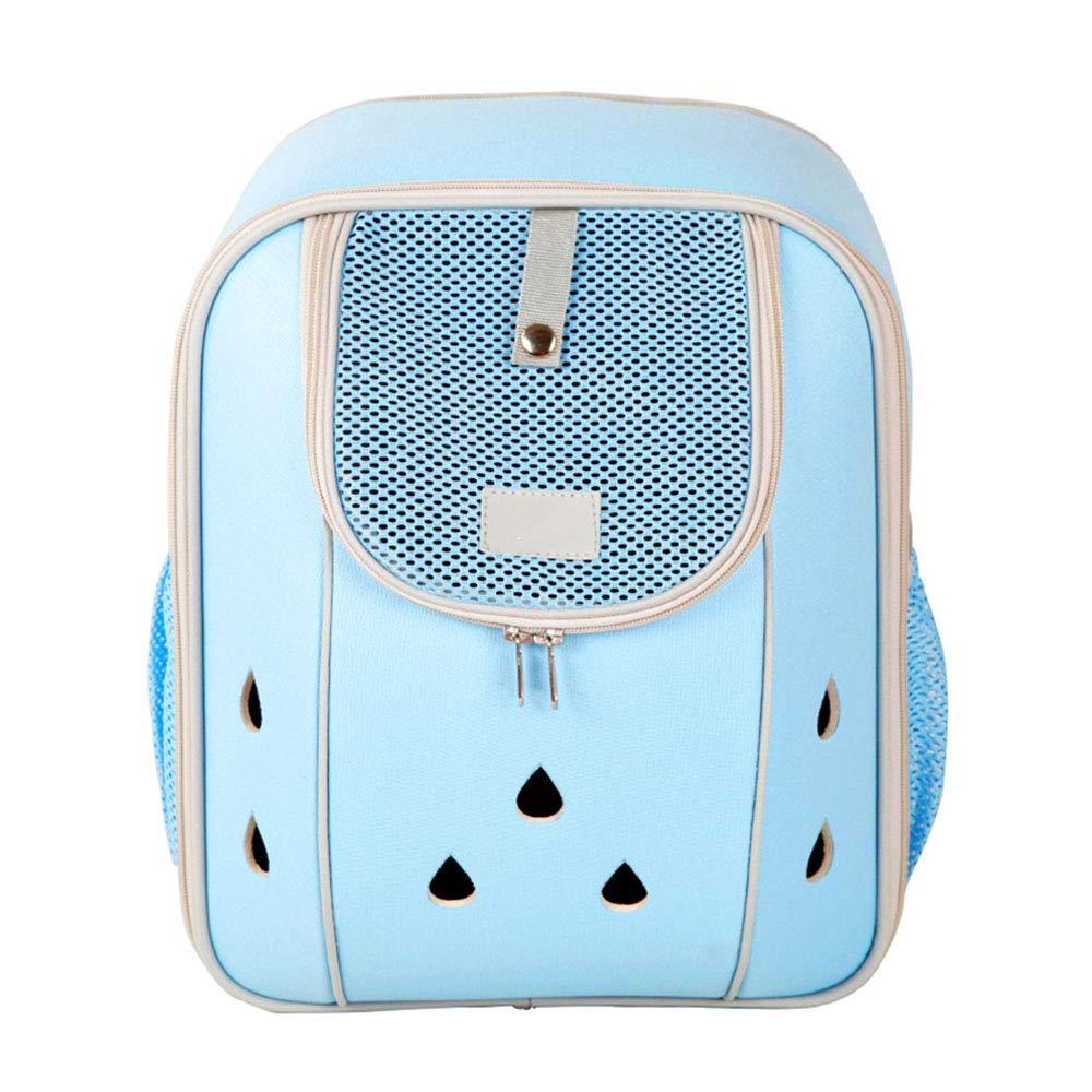bluee LargeNIANXINAN Waterproof Padded Fabric Pet Dog Puppy Cat Backpack Rucksack Carrier Bag