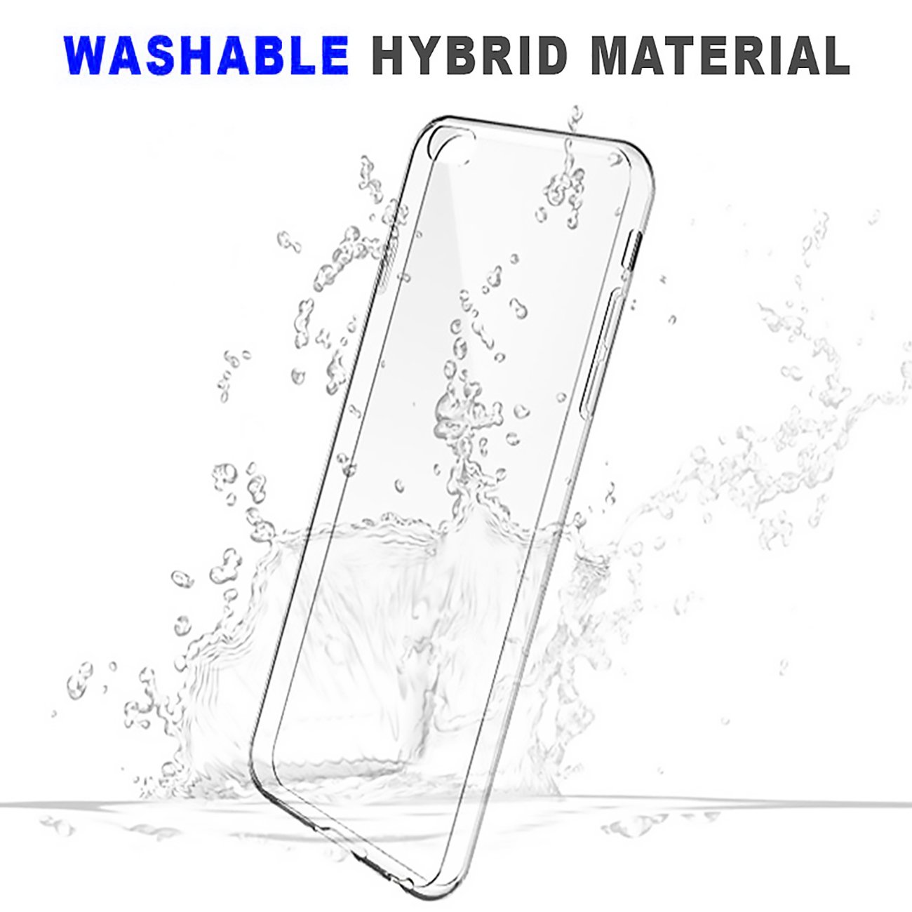 Soft TPU Cubierta Ultra Fina Transparente Caso Protector Delgado Crystal Clear para Apple iPhone 6 Plus 6S Plus CTGVH iPhone 6 Plus 6S Plus Funda
