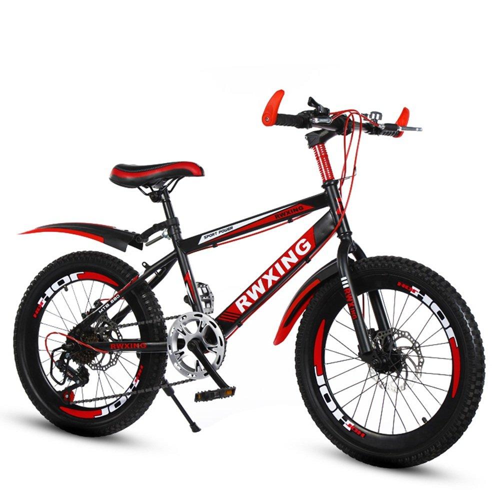 子供のスピードマウンテンバイク20/22インチディスクブレーキ自転車7-8-9-10-12-15歳小学校の自転車 ( 色 : 黒と赤 , サイズ さいず : 20 inches ) B07CNY6DYS黒と赤 20 inches