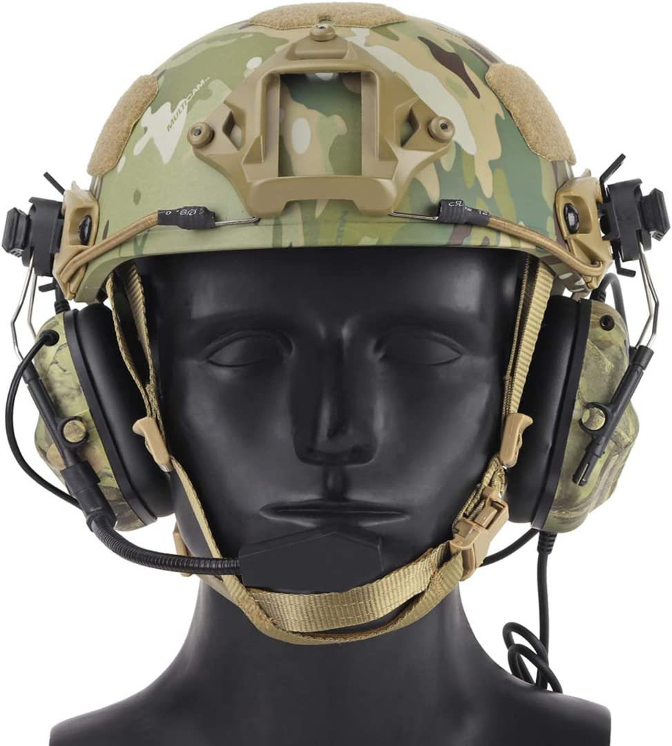 OD XSHION Noise Cancelling Headphones,Helmet-Type Tactical Headset Headphone Headset Noise Reduction Headset for Airsoft Military Radio