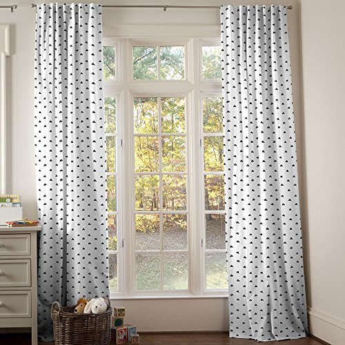 Carousel Designs Onyx Triangle Dots Drape Panel 96-Inch Length Standard Lining 42-Inch Width by Carousel Designs
