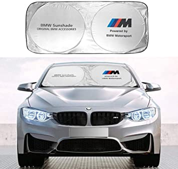 Amazon Com Wesport Car Windshield Sun Shade For Bmw Blocks Uv Rays Foldable Sun Visor Protector Sunshade To Keep Your Vehicle Cool And Damage Free For Most Bmw Accessories Automotive