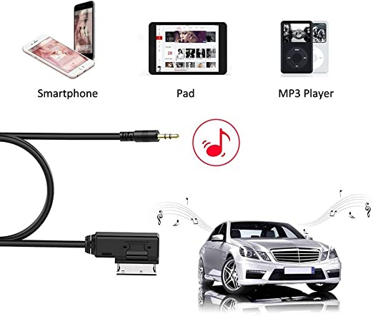 Aux IN Input Interface Adapter Car Radio Stereo for iPod MP3 Mercedes C Class