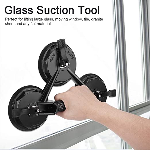 Aluminum Alloy Rubber 3 Claws Repairing Tool Glass Suction for Flat Materials Window Ceramic Tiles Granite Plates Ichiias Glass Suction Cup